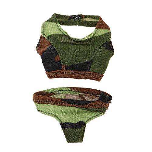 Hellery 1/6 Skala Action Figure Puppenkleidung, Camouflage Tank Top Und Höschen Set Für Phicen, TBLeague 12 Zoll Frauenkörper