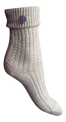 WWS Socken Zauber : Markenqualität vom Sockenprofi 1 Paar Trachtenstrümpfe Trachtensocken Natur + 1 Zauberstern (39/42)