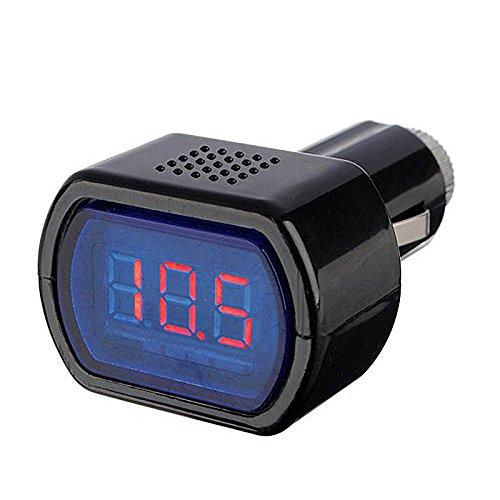 RETYLY 12-24V LED Zigarettenanzuender KFZ Batterie Tester Spannungsanzeige Voltmeter