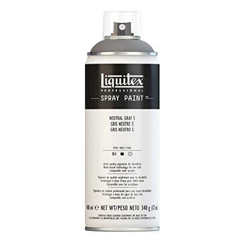 Liquitex Professional Spray Paint - Acrylfarbe, Farbspray auf Wasserbasis, lichtecht, 400 ml - Neutralgrau Nr. 5