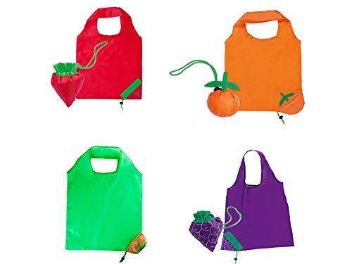 """Lote de 50 Bolsas de la Compra Plegables""""Frutis"""" - Bolsas Reciclables de Tela con forma de Originales Frutas - 100% Ecológico. Bolsas de la compra baratas"""