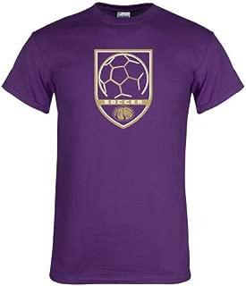 CollegeFanGear North Alabama Purple T Shirt 'Soccer Shield w Lion Head'