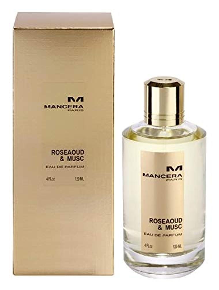 今憂慮すべきルーフMancera Roseaoud & Musc Eau de Parfum 4.0 oz./120 ml New in Box