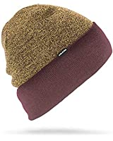 Volcom Men's Cruiser Rollover fit Snow Beanie, Black/red, One Size
