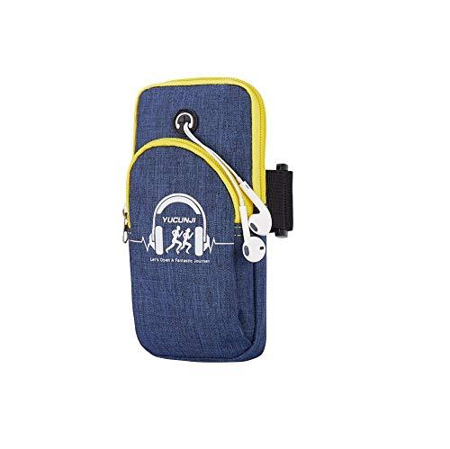 Ding&ng Running-Arm-Tasche, Handschalen-Tasche, Armstulpe, Handschalen-Handytasche@Blau
