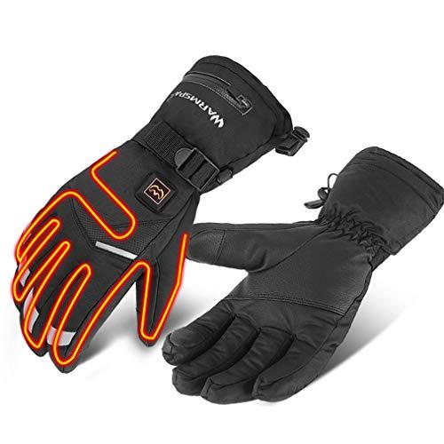 Verwarmbare motorhandschoen, verwarmbaar, met touchscreen, voor mannen en vrouwen, voor buiten, warm, wandelen, jacht, skiën, fiets, winter, elektrische handschoen