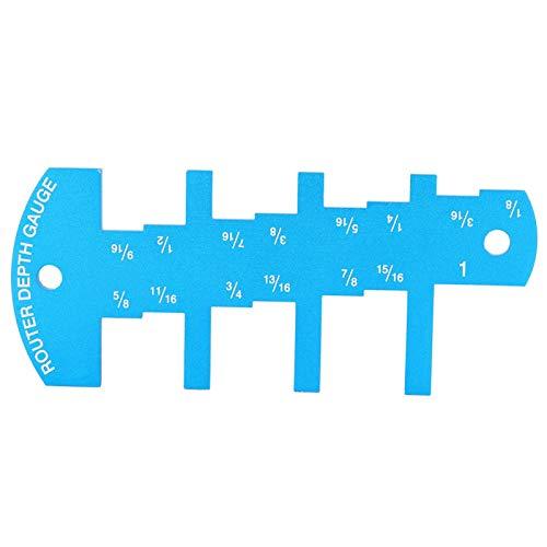 Medición Herramientas de límite de altura Medidor de profundidad de enrutador Pequeño dispositivo de carpintería con marcado grabado con láser Fácil de almacenar Hecho de aleación de