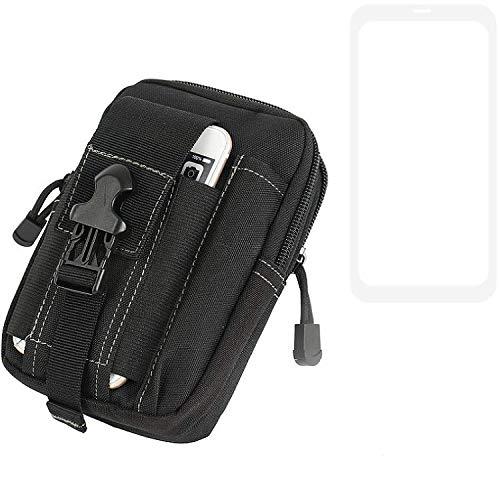 K-S-Trade Gürtel Tasche Für LG Electronics G8X THinQ Gürteltasche Holster Schutzhülle Handy Hülle Smartphone Outdoor Handyhülle Schwarz Zusatzfächer