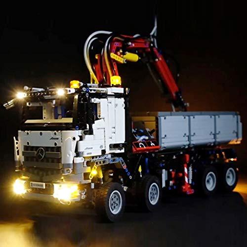MAJOZ LED Licht-Set für Baustein Spielzeug Beleuchtung Kit für Leg* Technic 42043 - Mercedes-Benz Arocs 3245 - Modell Nicht Enthalten