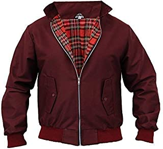 Mens Harrington Jacket Retro Vintage Bomber