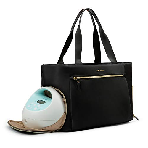 Product Image of the mommore Breast Pump Bag Diaper Tote Bag with 15 Inch Laptop Sleeve Fit Most...
