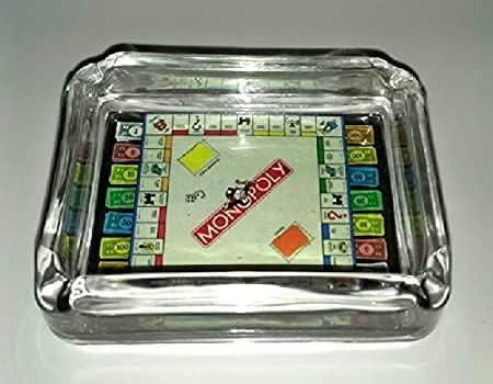 35% OFF Monopoly Board and Money Glass Ashtray Tray Change Di Miami Mall Dish Candy