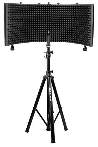 Rockville Recording Studio Microphone Isolation Shield + Heavy Duty Tripod Stand