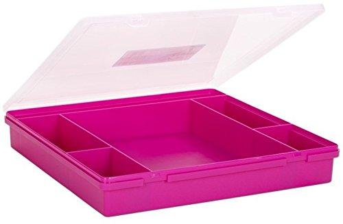 Wham 23357 Sortierbox 6-Fächer PINK ca.38x39x6cm Sortierkasten Sortimentskasten