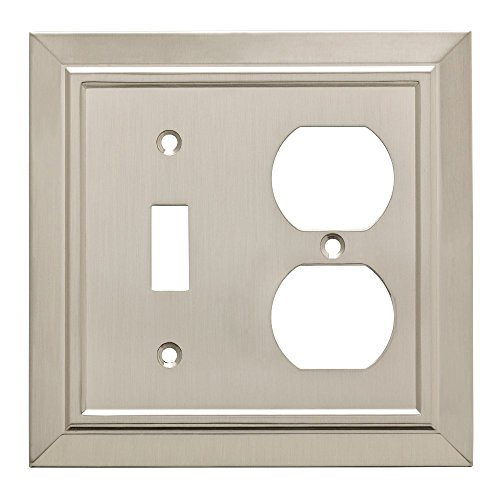 Franklin Brass W35221-SN-C Classic Architecture Switch/Duplex Outlet Wall Plate/Switch Plate/Cover, Satin Nickel