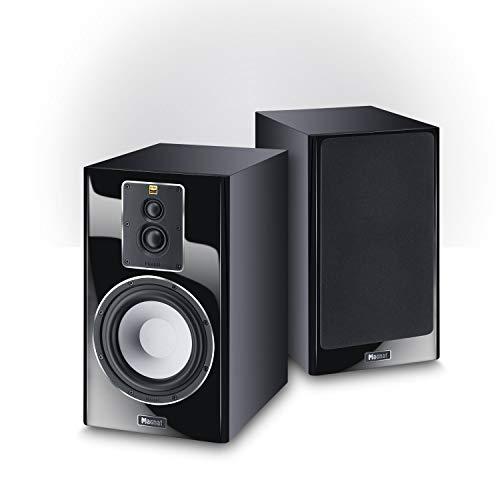Magnat Signature 703, schwarz, 1 Paar - dynamischer 3-Wege Regal-Lautsprecher mit edler Hochglanz-Front für fantastischen Stereo- und Heimkino-Sound