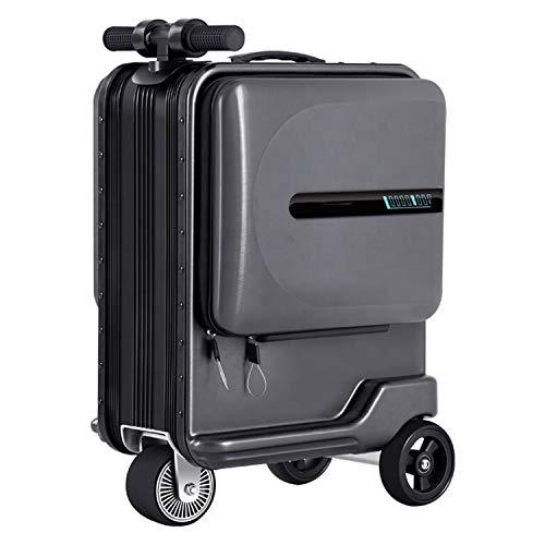 Maleta Smart Riding de 20 pulgadas, Bolsa de equipaje eléctrica, Estuche de...