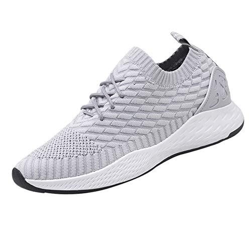 Holeider Sneaker Herren Laufschuhe Sportschuhe Atmungsaktiv Gemütlich Leichtgewicht Freizeitschuhe Schnürschuhe Low-Top Schuhe Mesh Mode 4 Farbe 39-44,