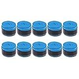LIOOBO 10 Pz Raqueta Agarre Antideslizante Perforado Super Absorbente Tenis Overgrip Bádminton Overgrip Pickleball Overgrip (Azul)