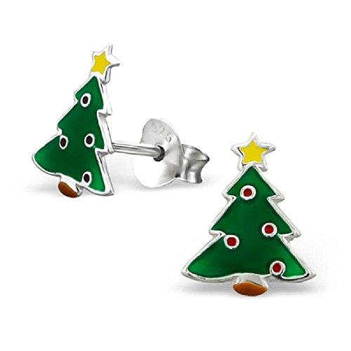 So Chic Joyas - Pendientes Niños árbol Navidad Esmalte