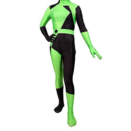 samsonuk Kim Possible Shego Tuta Cosplay Costume Tute e Tute da Palestra di Halloween per La Donna Tuta per Adulti Zentai Costume Cosplay (M)
