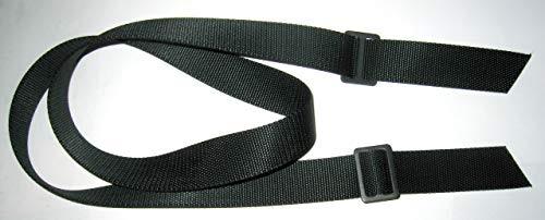 "Basic Black Nylon Two Point Rifle Sling, Silent Sling, 52"", Mil-Spec, Made in U.S.A."