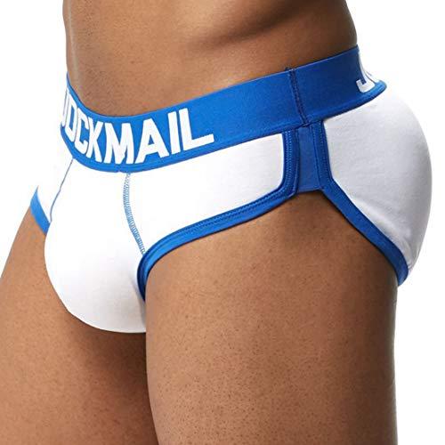 Hombres Boxer Calzoncillos Algodón Ropa Interior con Relleno Delantero y Trasera para Hombres Sexy