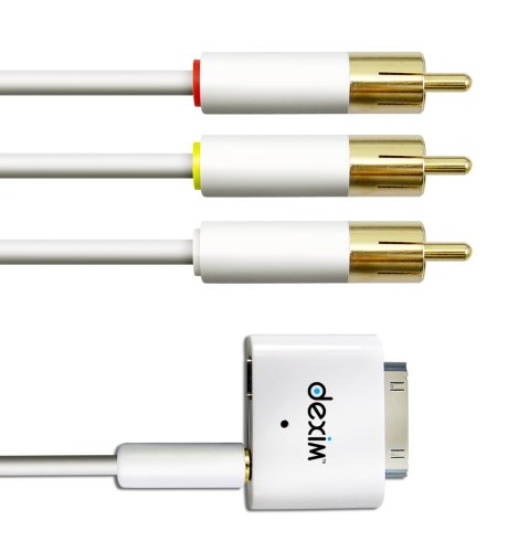 Dexim AV adapter with AV cable für iPhone