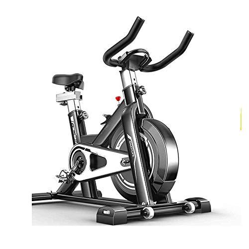 En posición vertical ultra silencioso interior Ciclismo Bicicleta de ejercicio de la correa de accionamiento fijos de bicicletas con el monitor LCD y el cojín del asiento cómodo for el hogar Cardio Wo