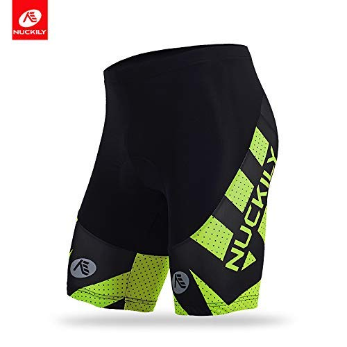MYCYCOLOGY Men's Nuckily Cycling Gel Padded Shorts Large Multi-Colour