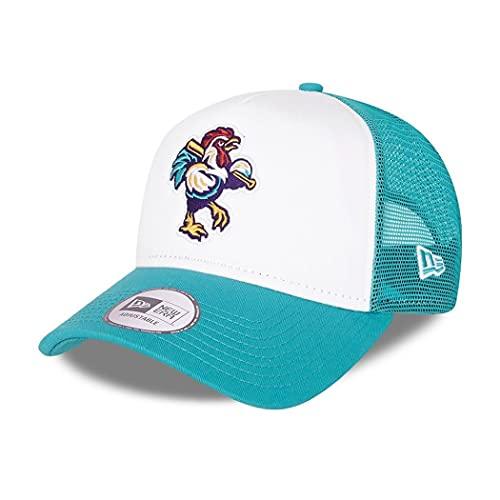 New Era Delmarva Shorebirds MiLB Cap Trucker verstellbar Basecap Snapback Minor League Kappe Baseball türkis - One-Size