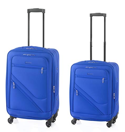 Top XL-Light - Juego de maletas (2 piezas, 70 cm, 2,9 kg + 55 cm, 2,6 kg, 4 ruedas, plegables)