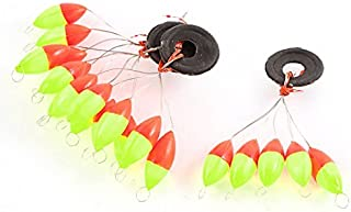 eDealMax Deportes Perla de plástico Pesca del flotador herramienta de tope Bobber 4PCS Rojo Amarillo