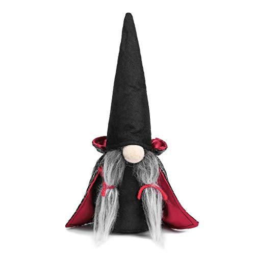 Dasongff Halloween Gesichtslose Puppe, Weihnachtspuppe, Ostern Weihnachten Deko Wichtel, Bart Mann Anhänger Dekoration, Weihnachten Ornament Spielzeug Geschenk Prop Partei Liefert