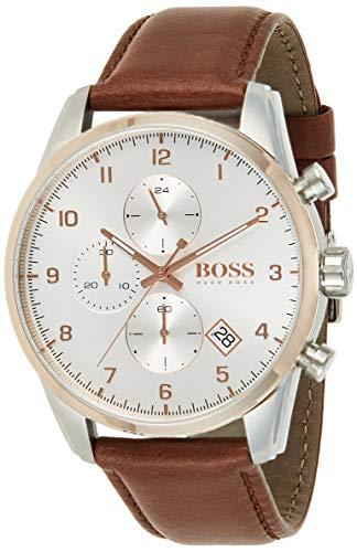 Hugo Boss Quarz Uhr mit Leder Armband 1513786
