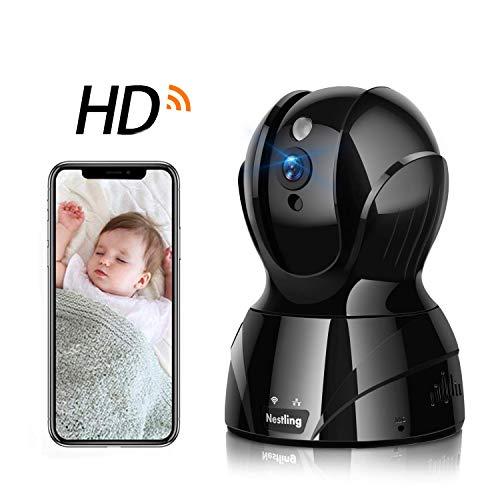 Nestling Baby Überwachungskamera,1536P HD WiFi IP Kamera WLAN Innenüberwachung,Baby/Haustier-Monitor,Mobile App Kontrolle mit Zwei-Wege-Audio,Bewegungserkennung,unterstützt Fernalarm