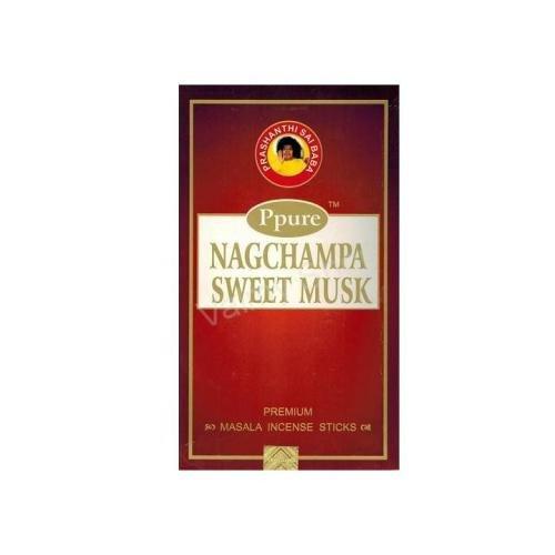 ppure Nag Champa Sweet almizcle Perfume Premium Masala–Varillas de incienso 15gramos
