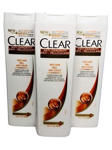 3x400ml Clear Anti-Schuppen Shampoo - Anti-Haarausfall, Für Frauen, Nutrium 10 ,Sparpack