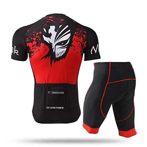 Saisma Monster Expression platform rood hoofdkleur 2019 nieuwste zomerjurken Jersey jurk korte mouwen en broeken sets voor mannen, buiten ademend fietsen kleding sets