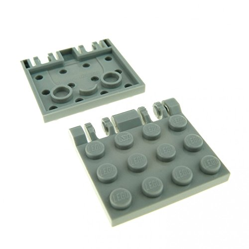 2 x Lego System Bau Platte neu-hell grau 3 x 4 Klappe Scharnier Raumschiff Star Wars Panele 44570
