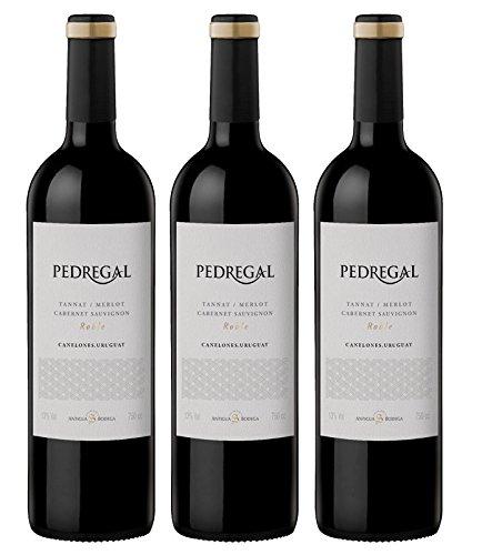Atlantik Weine, Weinpaket Pedregal Tannat Merlot Cabernet Sauvignon 2015, Rotwein aus Uruguay, Südamerika (3 x 0,75l)