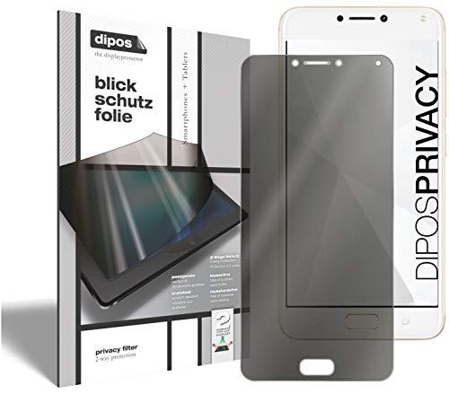 dipos I 2-Wege Blickschutzfolie kompatibel mit Asus Zenfone 4 Max 5.2 Zoll (ZC520KL) (Im Hochformat) I Sichtschutz-Folie Bildschirm-Schutzfolie Privacy-Screen - Schützt gegen seitliche Blicke