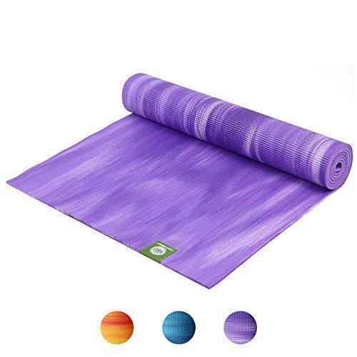 mächtig der welt Lotus Design Oeko-TEX Yogamatte, für Anfänger bis Fortgeschrittene, rutschfest, ausgezeichnete Dämpfung,…