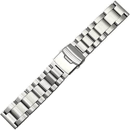 Ver accesorios de reloj Correa de reloj 22 mm 24 mm 26 mm de espesamiento de 5, 5 mm Reloj de acero inoxidable Correa de la pulsera de las mujeres Hombres Metal Reloj de la banda de la correa de la c