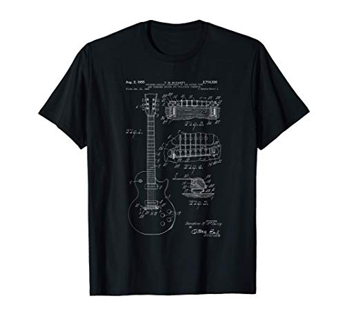 Classic Vintage Patent Print 1955 Rock Guitar Gift T-Shirt