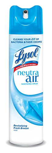 Lysol Neutra Air Sanitizing Spray Air Freshener, Aerosol, Revitalizing Fresh Breeze, 10 Ounce (Pack of 2)