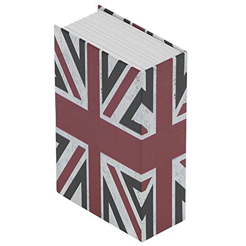 WNSC Caja De Cerradura De Combinación, Caja De Seguridad para Libros, Forro De Acero Inoxidable De Escritorio para Ahorrar Dinero para Documentos