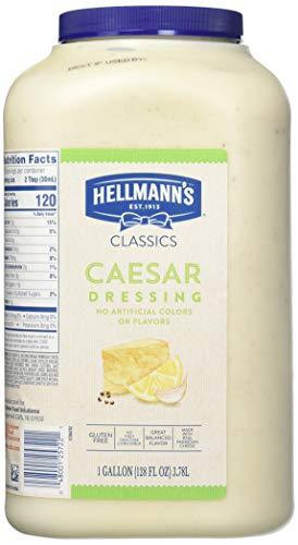 Hellmann's Classics Caesar Salad Dressing Jug Gluten Free, No Artificial Flavors, Colors or High Fructose Corn Syrup, 1 gallon, 128 Fl Ounce