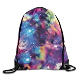 Drempad Coulisse Sacchetto,Zaino Coulisse Sacchetto, Drawstring Bag Galaxy Print Print Drawstring Backpack Rucksack Shoulder Bags Gym Bag Sport Bag