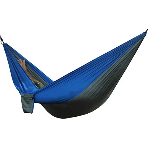 Draagbare Hangmat for 2 personen, Outdoor Camping Hangmatten, Nylon Carabiners Swing Opknoping bed met Boom Riemen en aluminium, Tuin Wandelen Beach Jacht Leisure Travel Parachute Hangmatten - 270x140